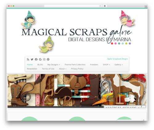 Customizr free WP theme - magicalscrapsgalore.com