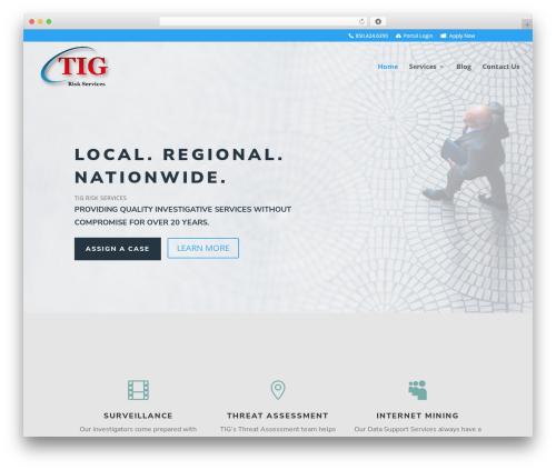 Divi company WordPress theme - tig.us