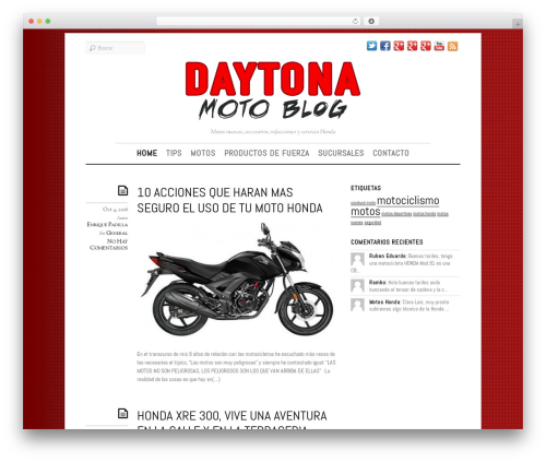 Elemin WordPress website template - motoshonda.daytonamotos.com