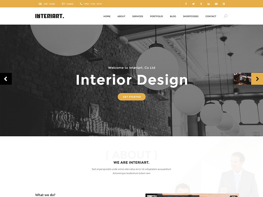 Interiart Children Theme WordPress store theme