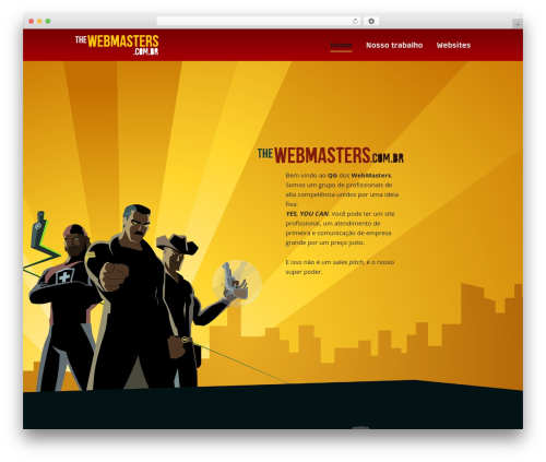 Lion - WordPress Theme WordPress page template - thewebmasters.com.br
