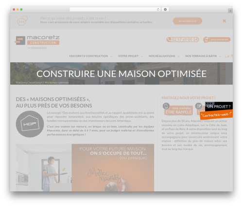 Macoretz (site principal) best WordPress template - macoretz.fr/construction/maison-optimisee