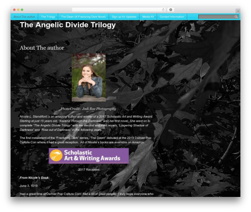Mobile First free WordPress theme - theangelicdividetrilogy.com