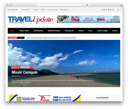 Public Opinion WordPress magazine theme - travelupdate.ph