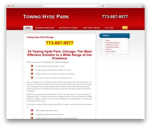 RedBel WordPress shop theme - towinghydepark.com
