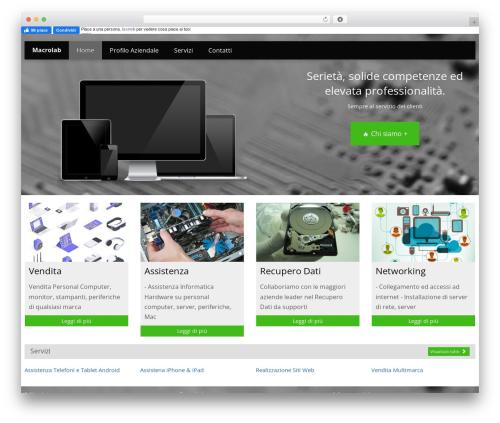 Sensitive theme WordPress - macrolabweb.com