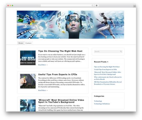 Shadows WordPress news template - tech-new.org
