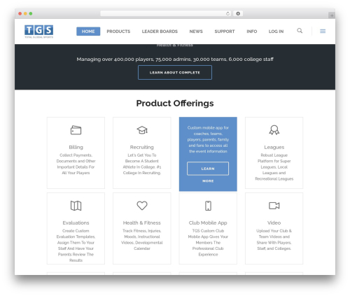 Startit template WordPress - totalglobalsports.com