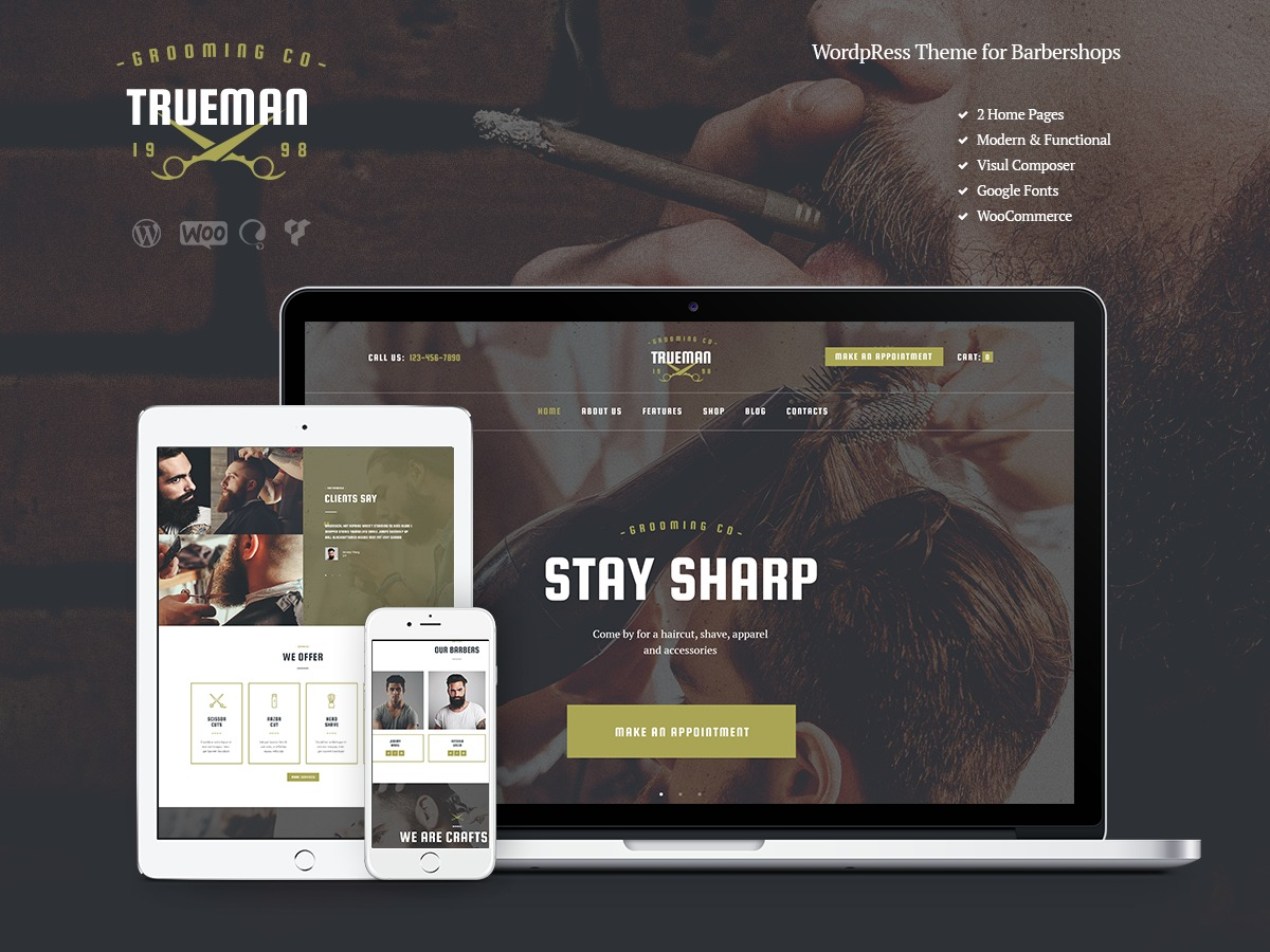 Trueman WordPress website template