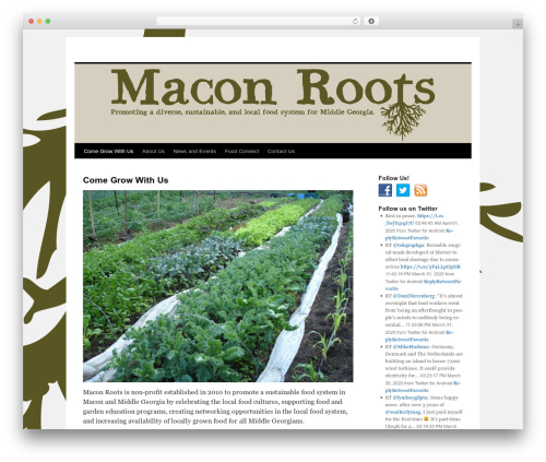 Twenty Ten free WordPress theme - maconroots.com