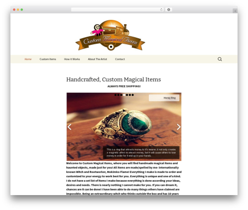 Twenty Thirteen WordPress theme - magicalitems.com