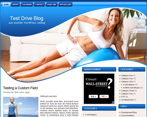 WordPress template healthy_lifestyle