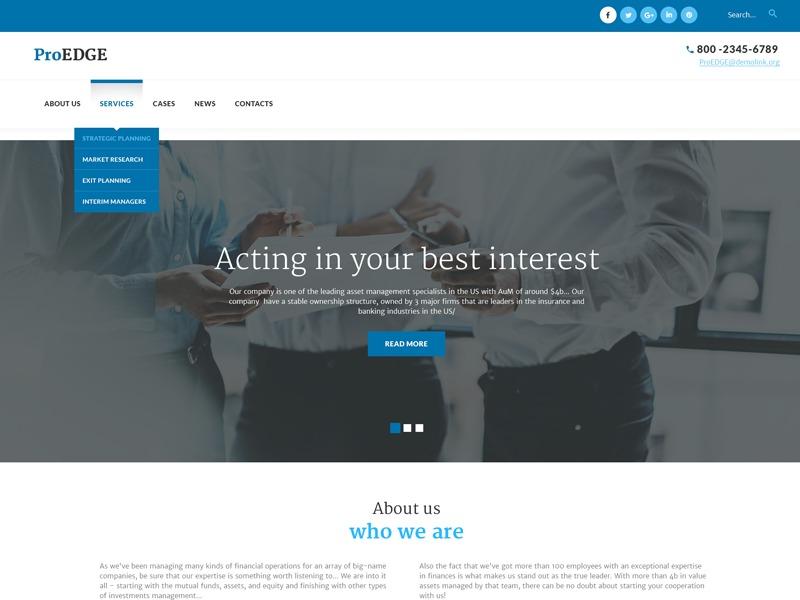 WordPress template Proedge