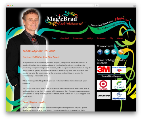 WordPress theme Builder - magicbradentertainment.com