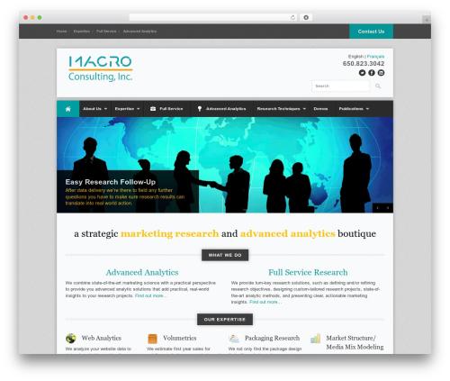 WordPress theme Office - macroinc.com/english