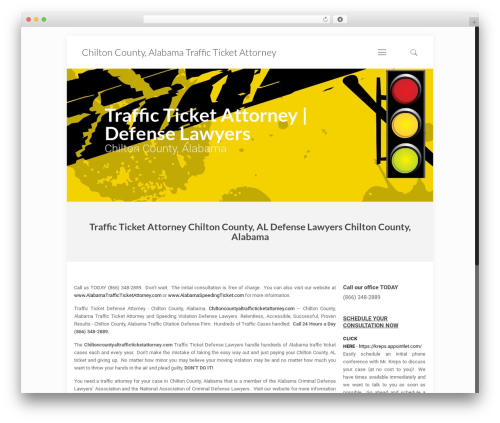 Betheme WordPress page template - chiltoncountyaltrafficticketattorney.com