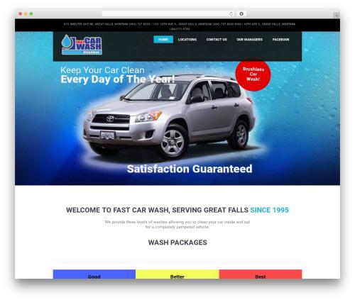 CarWash WordPress theme - greatfallscarwash.com