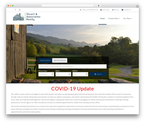 Deevoweb IDX Broker Child template WordPress - swvaproperties.com