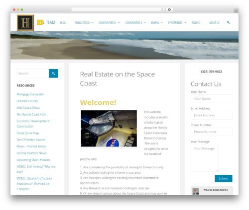 Fluida WordPress theme download - spacecoasthub.com