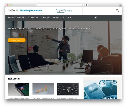 Guides for CRM Wordpress Theme WordPress theme - guidesformarketingautomation.com