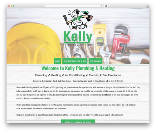Organic Profile WordPress theme design - kellyplumbingheatingmd.com