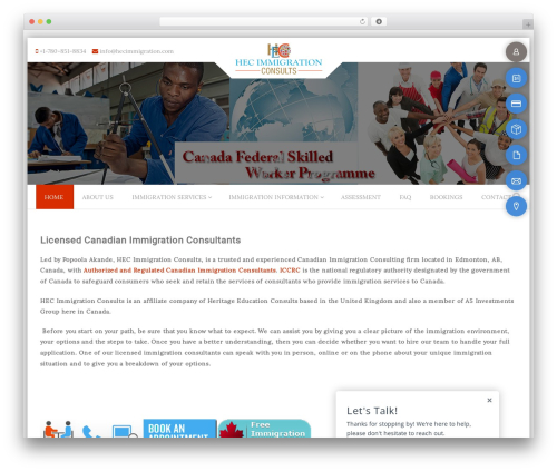 PremierPro WordPress theme - hecimmigration.com