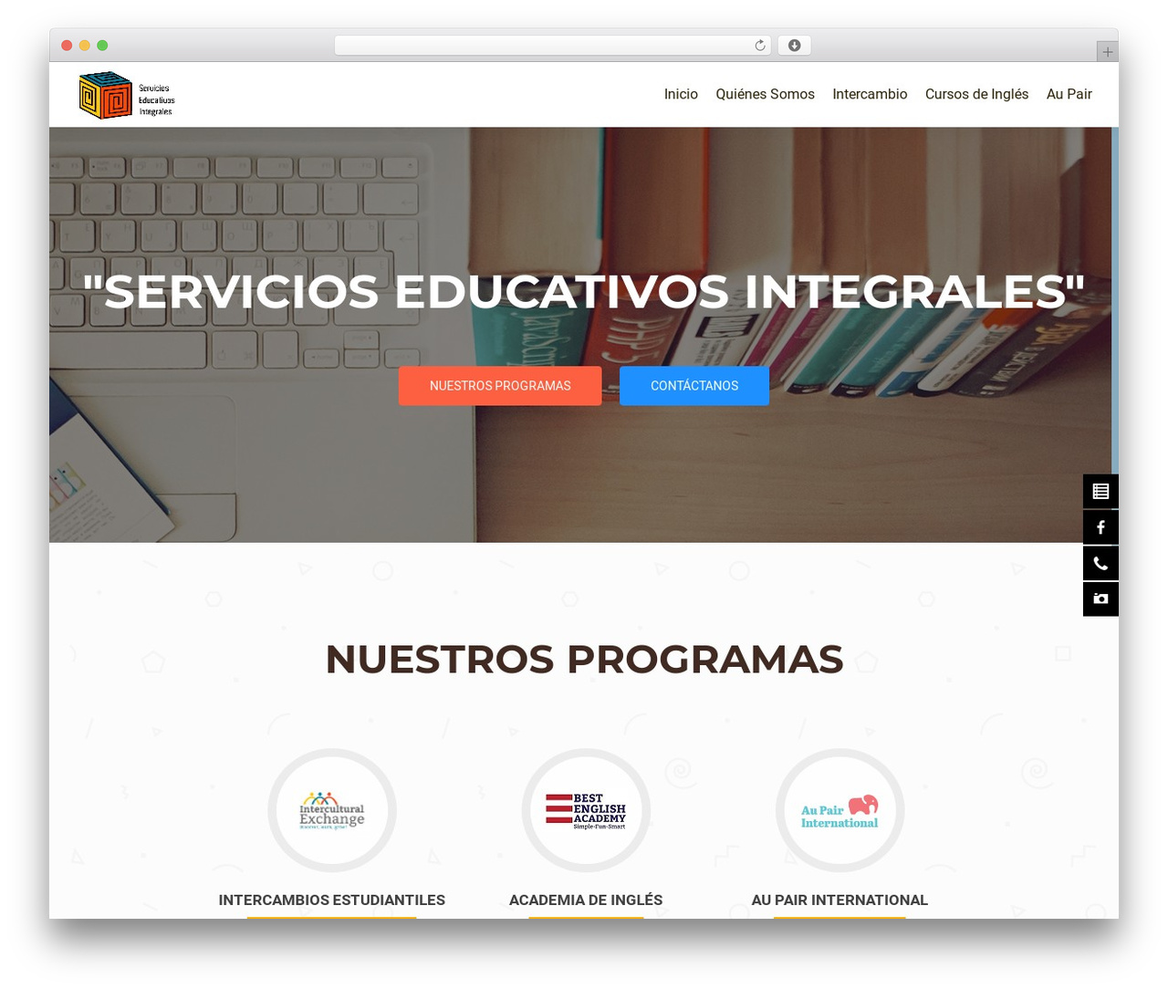 Template WordPress OnePirate - seeducaintegral.com