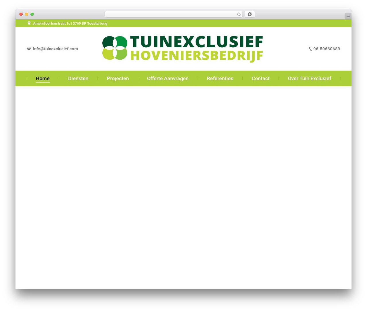 WordPress theme The7 - tuinexclusief.com