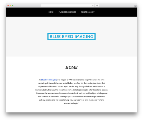 Argent WordPress theme - blueeyedimaging.com