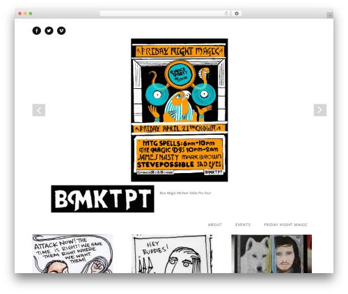 Best WordPress template Qua - bmktpt.com