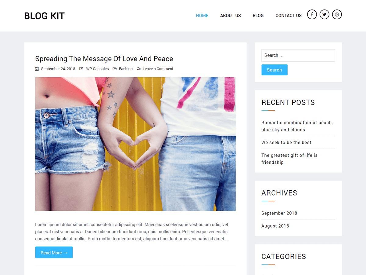Blog Kit WordPress blog template