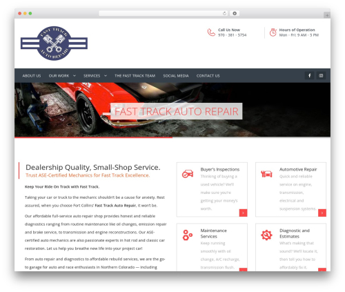 Carshire WordPress template - fasttrack-autorepair.com
