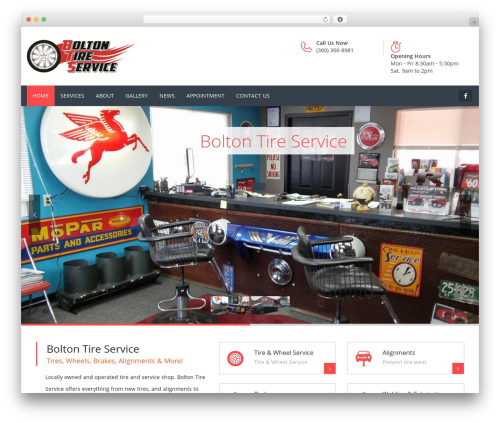 Carshire WordPress theme - boltontireservice.com