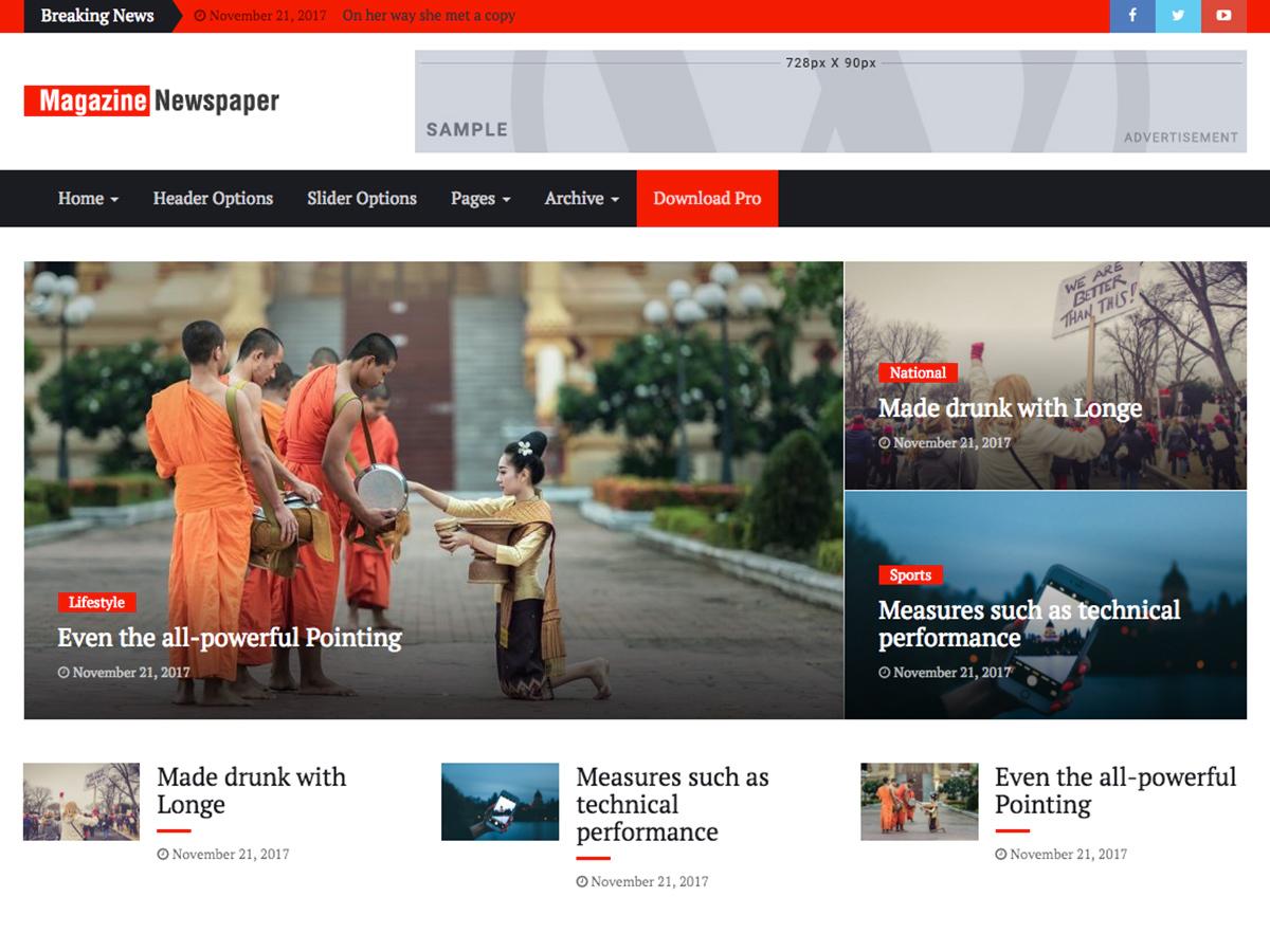 Magazine Press theme WordPress portfolio
