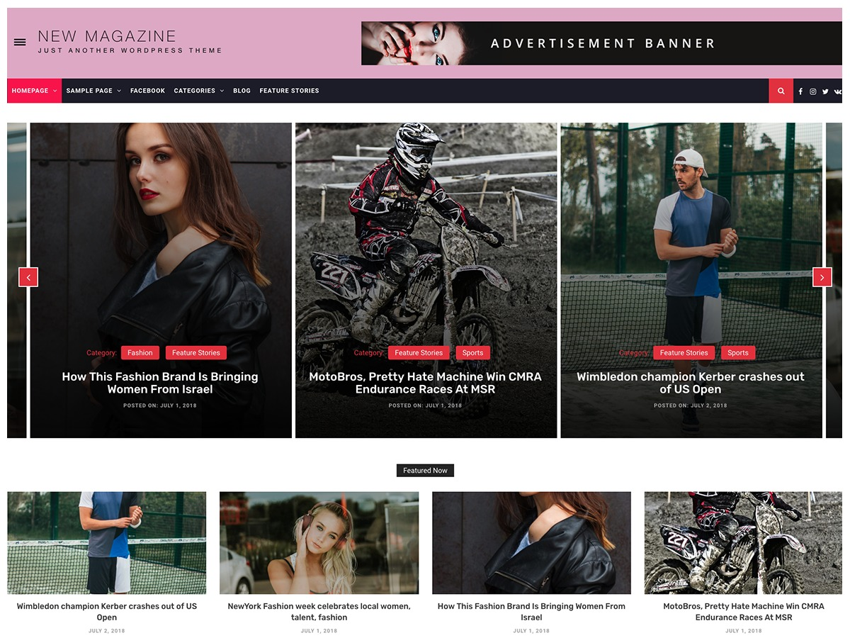 New Magazine best WordPress magazine theme