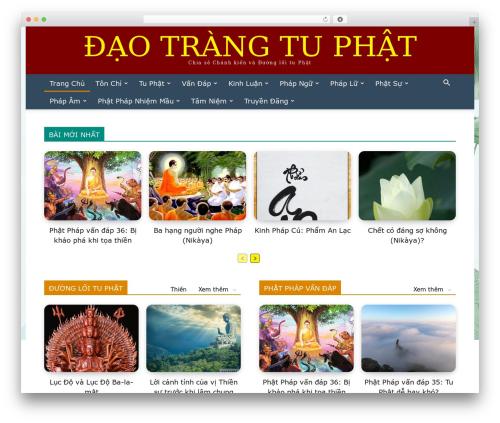 Newspaper WordPress page template - daotrangtuphat.com