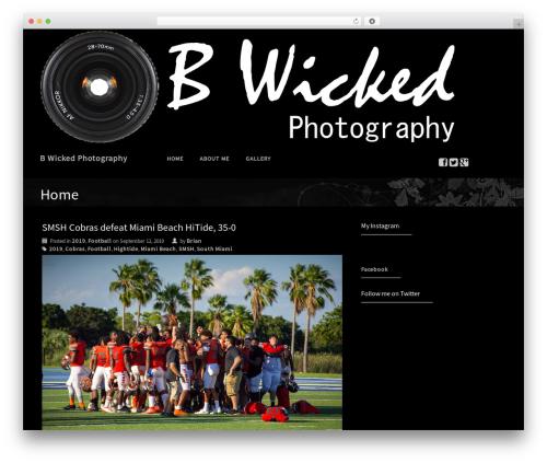 Premium Photography WordPress free download - bwickedphotography.com
