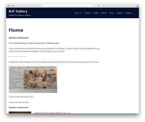 Sydney WordPress template free - bjfgallery.co.uk