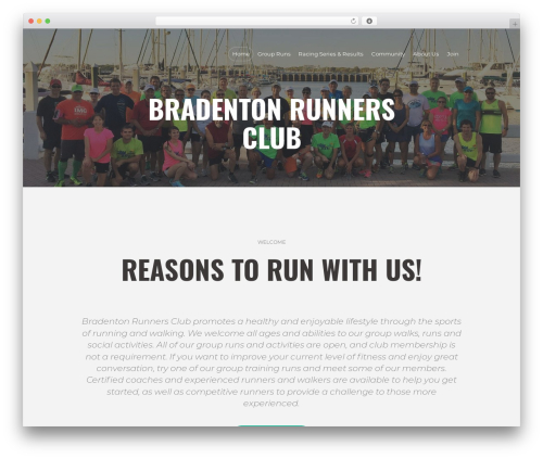 WordPress website template RunCrew - bradentonrunnersclub.com