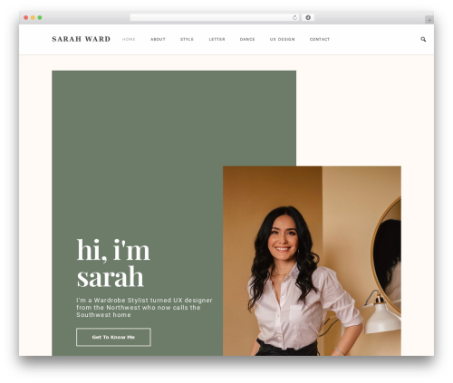 Best WordPress theme Glamour - bysarahward.com