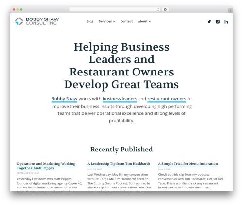 BSC best WordPress theme - bobbyshawconsulting.com