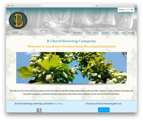 DynamiX company WordPress theme - bchordbrewing.com