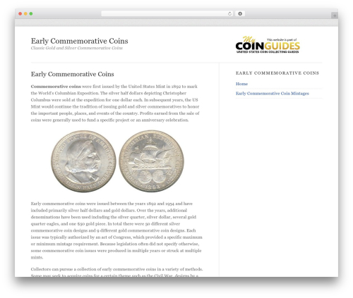 Mobile First Adaptation WP template - earlycommemorativecoins.com