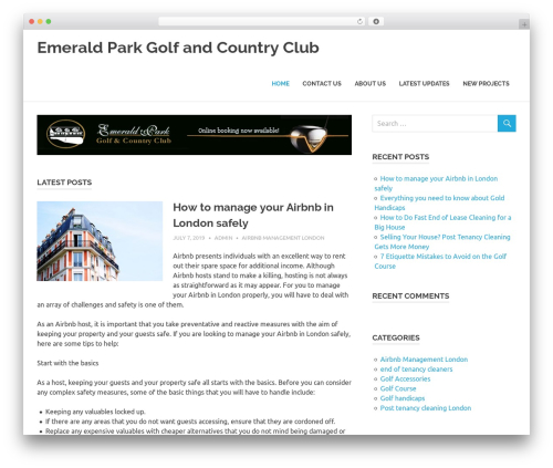 Poseidon WordPress theme free download - emeraldparkgolf.com