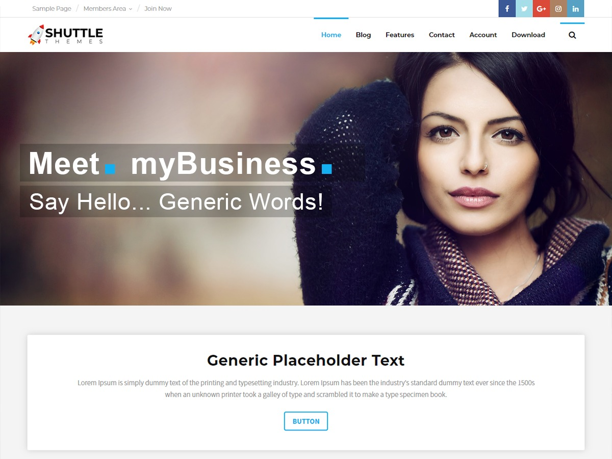 Shuttle myBusiness best WooCommerce theme