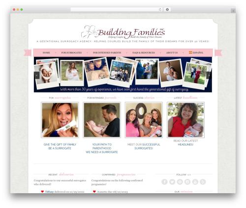 Sugar and Spice top WordPress theme - buildingfamiliesinc.com