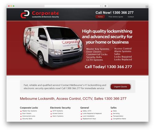 WordPress theme Superb - businesslocksmith.com.au