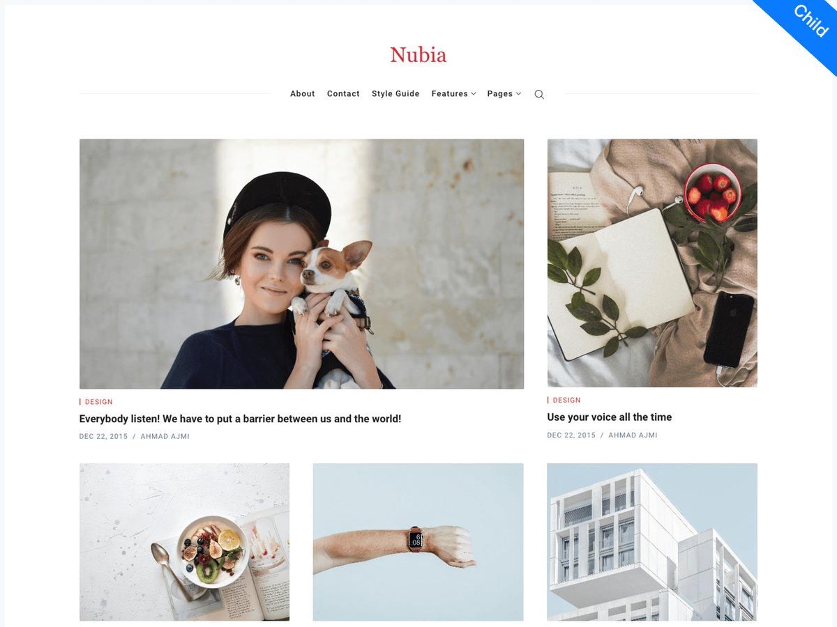 Nubia Child best WordPress magazine theme