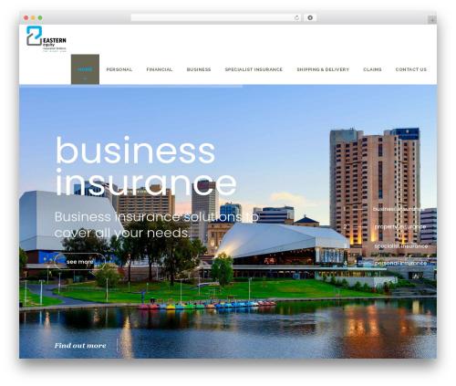 Veda business WordPress theme - easternequityinsurance.com.au