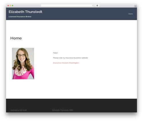 WordPress template Sydney - ethunstedt.com